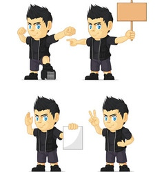 Spiky Rocker Boy Customizable Mascot 15 vector image