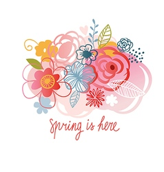 Spring is here floral vector