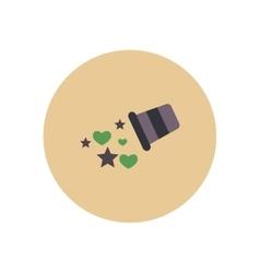 Stylish icon in color circle baby bucket vector