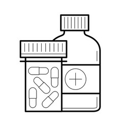 tablet and capsule in bottle vector image