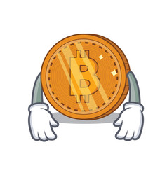 Tired bitcoin coin character cartoon vector