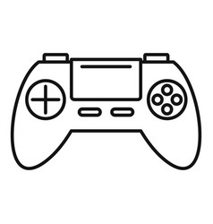 Toy gamepad icon outline style vector