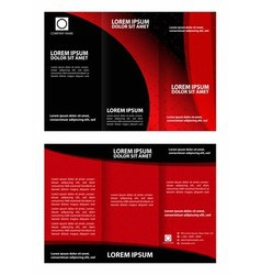 Tri-Fold Corporate Business Brochure Design vector