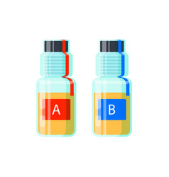 Two urine test tubes for analysis of doping vector