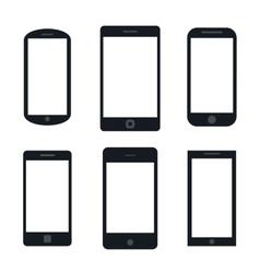 Variety modern black icon silhouette set vector
