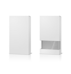 White boxes blank with transparent window vector