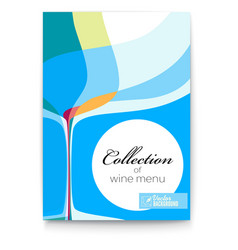 Wine list design template for bar or restaurants vector