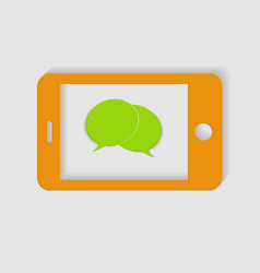yellow phone on a white background vector image