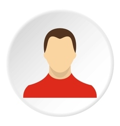 Young man with haircut avatar icon flat style vector