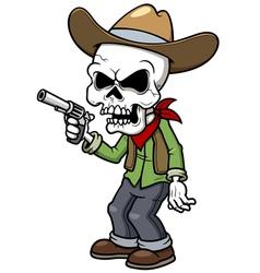 Zombie cowboy vector image