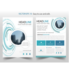 blue abstract technology brochure annual report vector image
