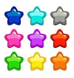 Colorful star icons vector image vector image
