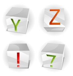 cube alphabet letters ABCD vector image vector image
