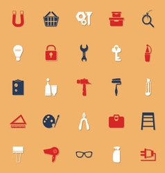 DIY classic color icons with shadow vector image