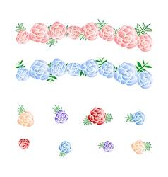Flower Crown Rose Headband vector image vector image
