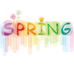 font spring vector image vector image