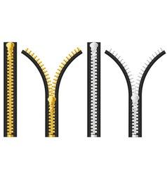 zipper 03 vector image
