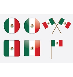 badges with flag of Mexico vector image