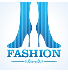 Beauty and fashion icon with shoe stock vector image vector image