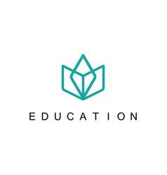 line book education logo vector image