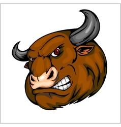 Bull Head Mascot - for sport vector image