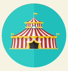 Classical Circus tent icon design vector image