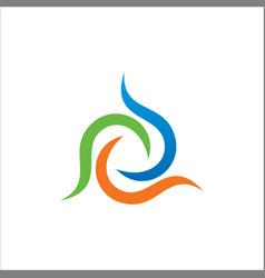 colored circle abstract logo vector image vector image