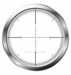 sniper sight vector image