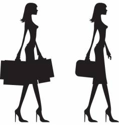 woman walking vector image