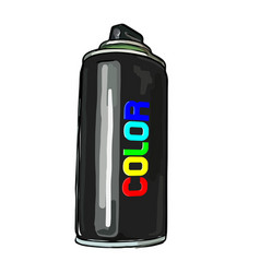 aerosol paint in a cylinder vector image vector image