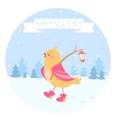 bird new year vector image vector image
