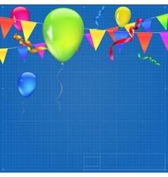 Festive background with flags vector image