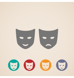icon set of theater masks vector image