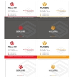 letter s business card 1 vector image