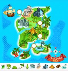 Pirate Treasure Map vector image vector image