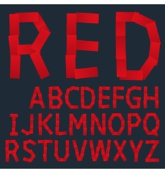 Red paper creative font vector image vector image