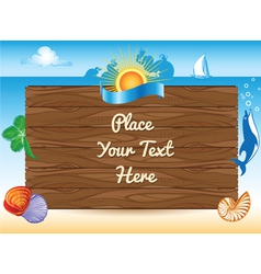 sea travel background vector image vector image