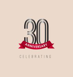 30 year anniversary logo template design vector