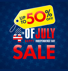 4 happy independence day usa sale creative banner vector image