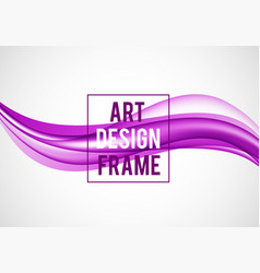 Abstract smooth design template vector
