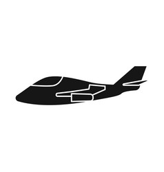 Aeroplane and space logo vector
