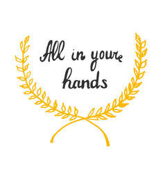 all in your hands retro template for web design vector image