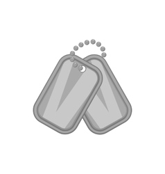 Army badge icon black monochrome style vector