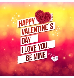 Attractive Happy Valentines Day Concept vector image
