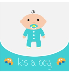 Baby shower card Its a boy vector