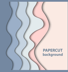 Background with pastel blue and rose color paper vector