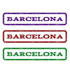 Barcelona watermark stamp vector