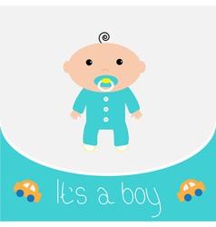 Bashower card its a boy vector
