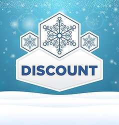 beautiful plate with snowflakes and inscription vector image