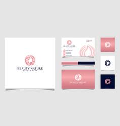 beauty nature logo design premium vector image